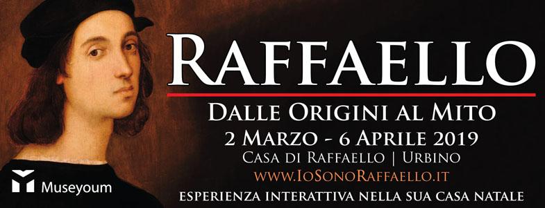 """Raffaello locandina mostra """"Raffaello dalle origini al mito"""""""