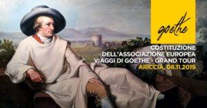 Ariccia (RM). Nasce l'Associazione europea dei viaggi di Goethe-Grand Tour - TgTourism