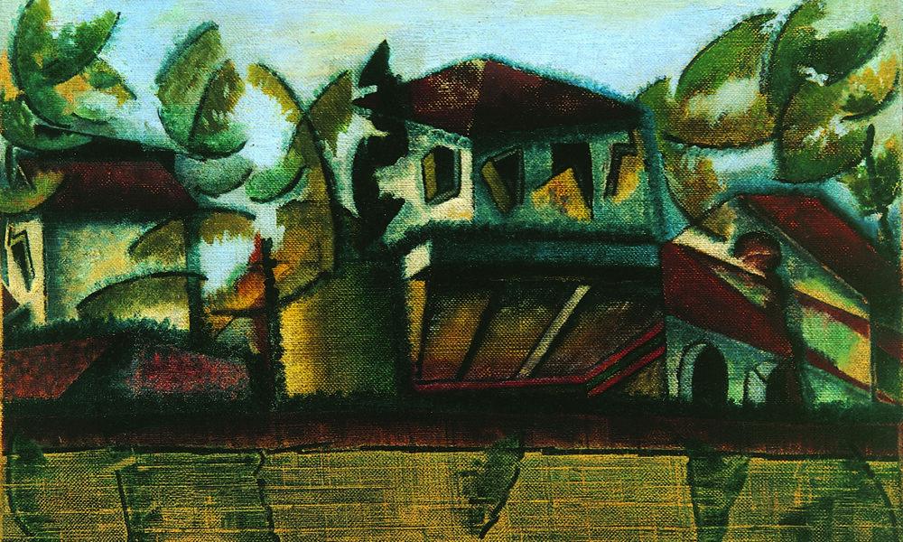 Ottone Rosai: Follie estive (1918) Olio su tela, cm 44x49