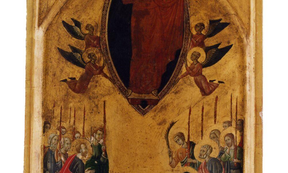 Maestro di Forlì, Trittico con storie della Vergine e Santi, 1290-1300, tempera su tavola, 38x27/39x14.5/39x14.5 cm, Forlì, Musei San Domenico, Pinacoteca Civica