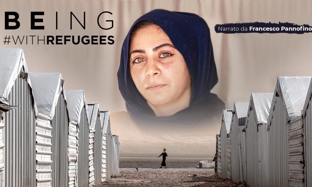Being with Refugees - Rifugiati Siriani, locandina. Via ufficio stampa.. Patrocino di UNHCR