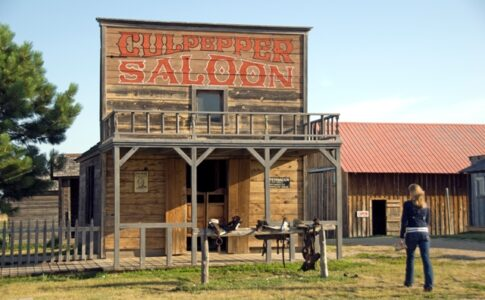 Saloon vecchio west. Viaggio in South Dakota: Fonte: The Great American West