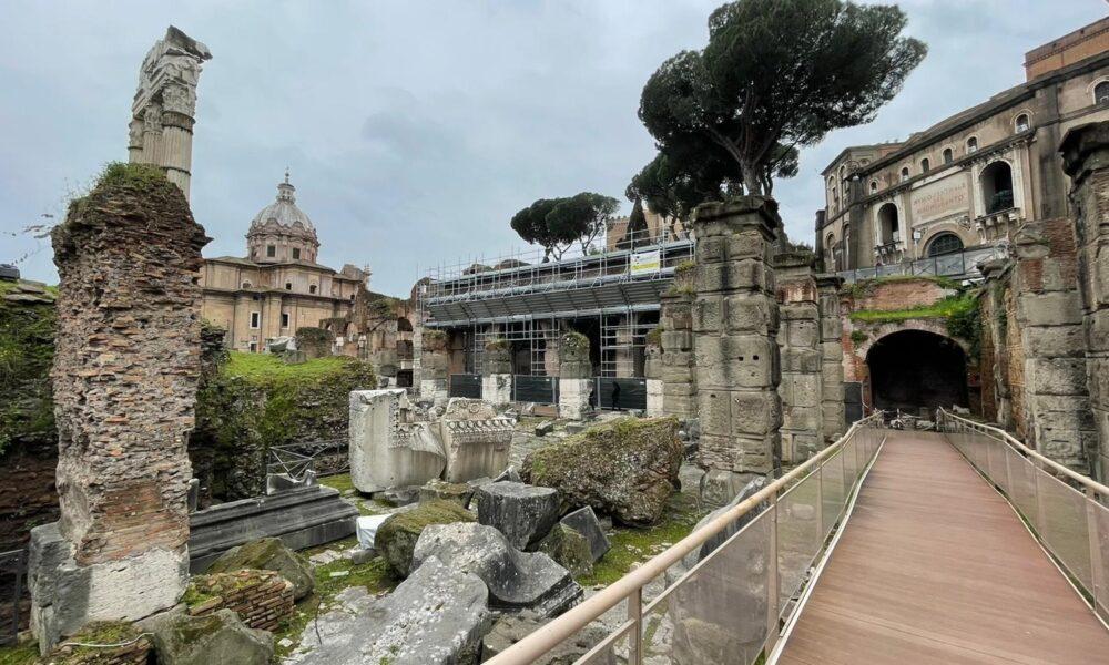 Foro di Cesare, Roma. Lavori in corso