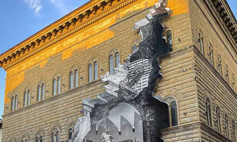 Palazzo Strozzi, La Ferita, JR.