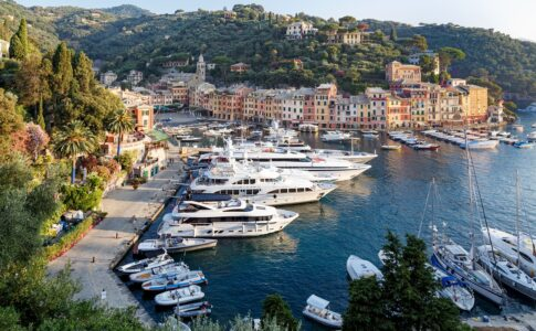 Barche a Portofino, in Liguria.
