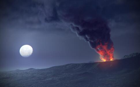 Vesuvio, eruzione.