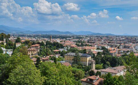 Bergamo, vista sulla città
