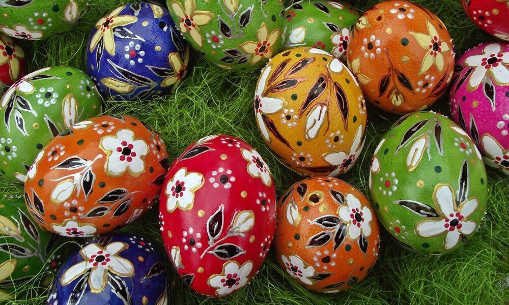 Uova dipinte per Pasqua