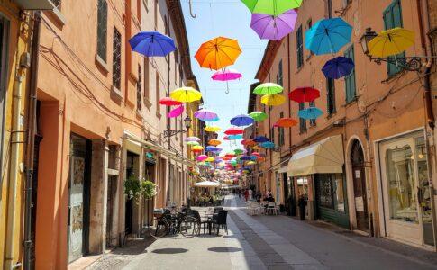 Comune di Ferrara, ombrelli