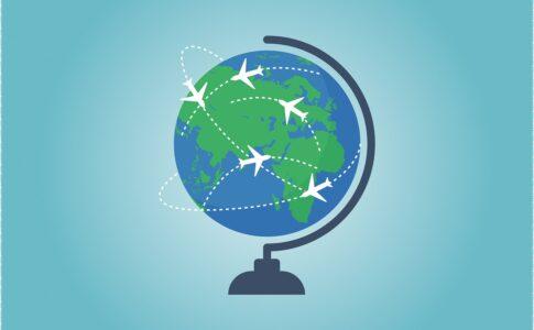 Turismo, immagine del globo.