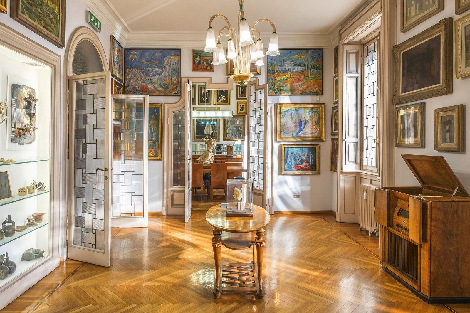 . Milano MuseoCIty 2021. Casa Museo Boschi di Stefano, interno.