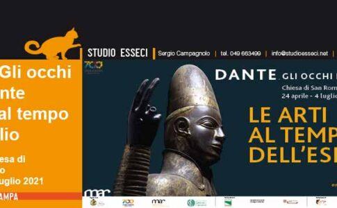 Locandina mostra. Anniversario della morte di Dante. Fonte: Museo d'Arte della città di Ravenna e Musei San Domenico Forlì