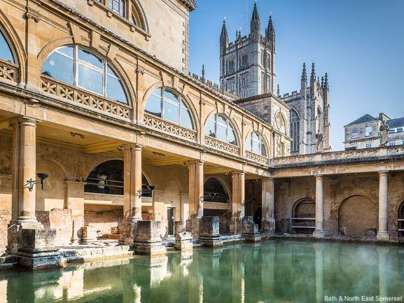 Archeologia Gran Bretagna. Terme di Bath. Via Visit Britain.