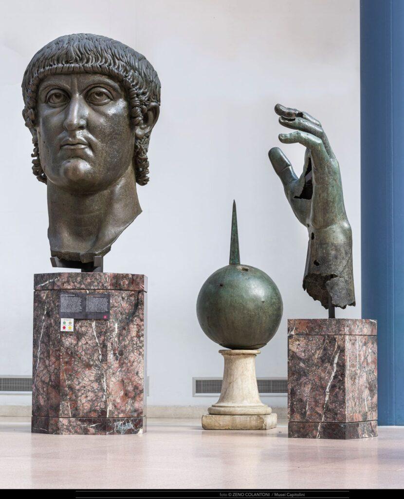 Costantino ©Musei Capitolini, foto di Zeno Colantoni