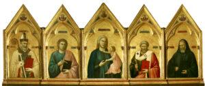 Dante mostra, Polittico di Badia, Giotto