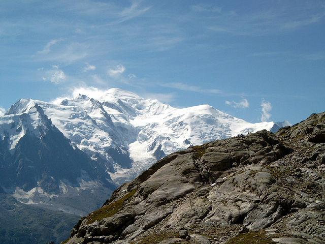 World Water Forum 2024. Veduta del Monte Bianco. Via Wikimedia Commons.