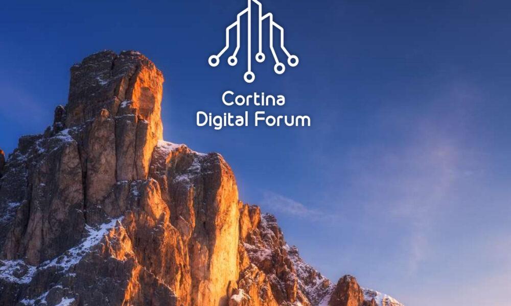 Logo Cortina Digital Forum 2021. Via Community Group.