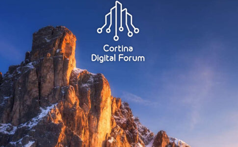 Logo Cortina Digital Forum 2021. Via Community Group.