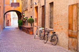 Ferrara centro storico, bicicletta