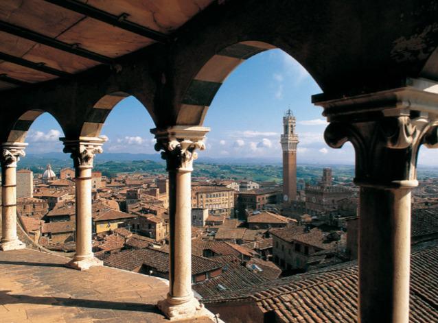 Veduta di Siena. Via Terre di Siena.