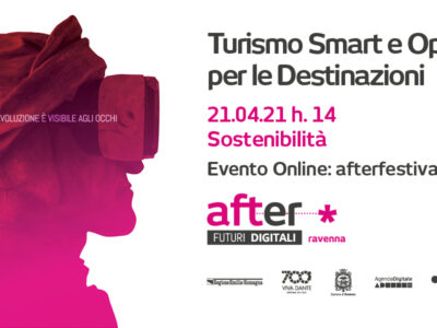 Turismo Smart. Logo del festival After Futuri Digitali.