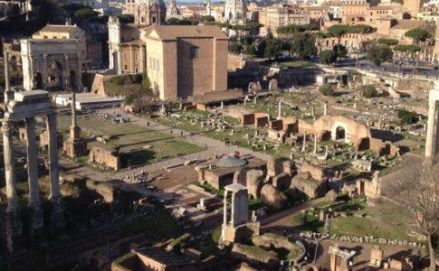 Parco archeologico del Colosseo Veduta Foro romano