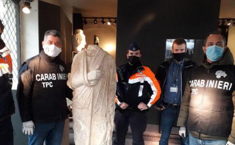 Carabinieri TPC scultura romana Fonte: Carabinieri tutela del patrimonio culturale
