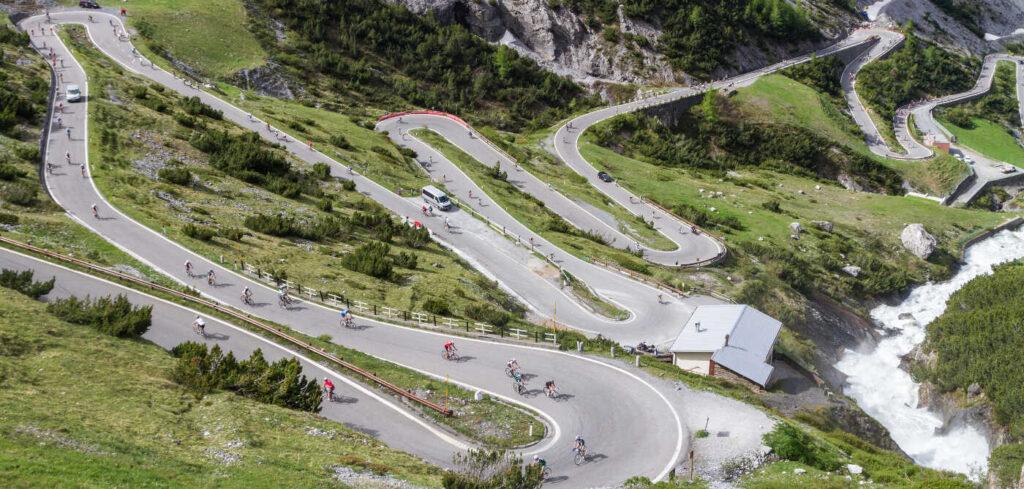 Bici in Valtellina. Passo dello Stelvio, via Valtellina.it.