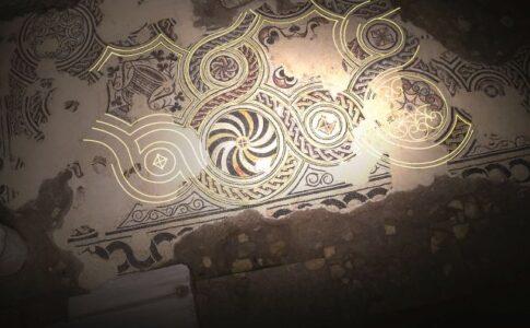 Mosaici delle Domus ROmane. Foto ad uso stampa di prorpietà dell'Amministrazione di Roma Capitale.