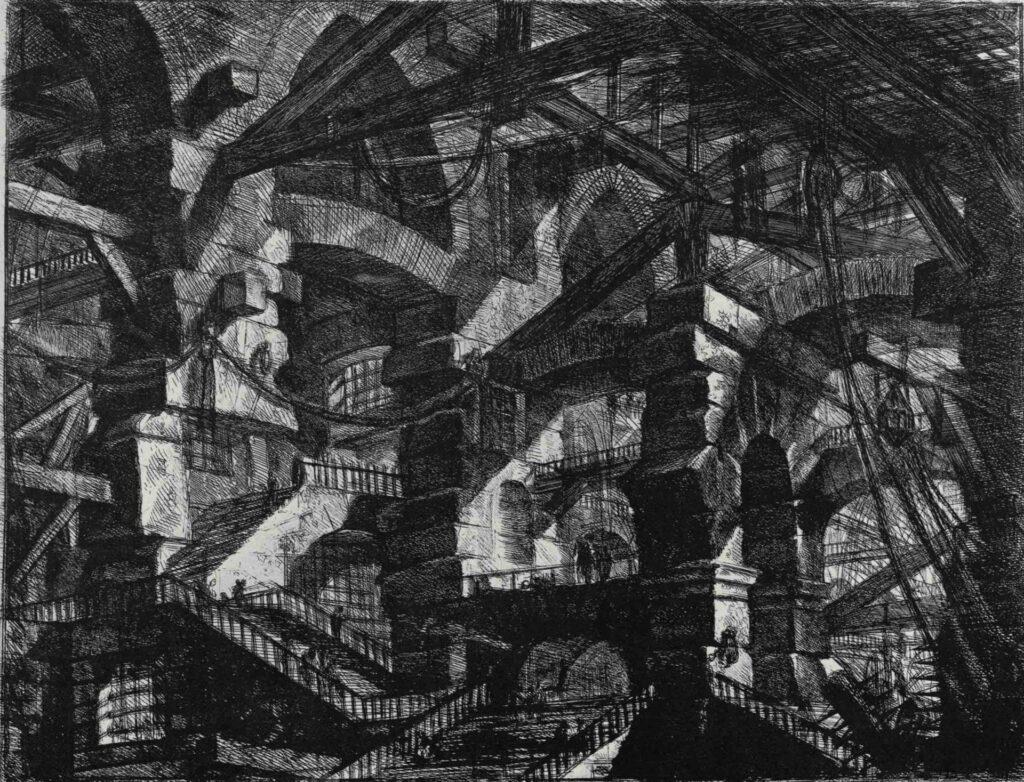 Giovan Battista Piranesi, Carceri d'Invenzioni, XIV. L'arco gotico, 1745-61