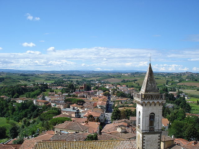 Bandiere Arancioni in Toscana. Vinci. Via Wikimedia Commons.