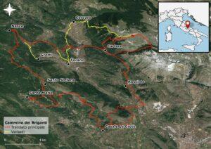 Mappa Cammino dei Briganti