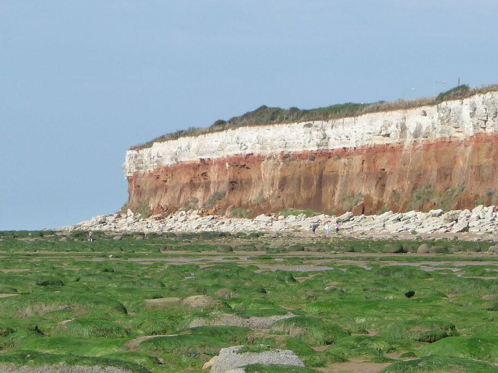 Cliffs of Hunstanton, sulla costa vritannica. Via Wikimedia Commons.