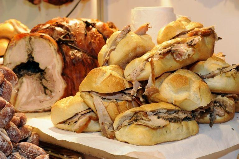 Piatti tipici Umbria, panino con porchetta