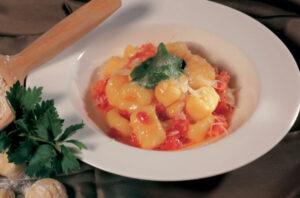 Gnocchetti di patate. Via Alto Adige/Suedtirol.