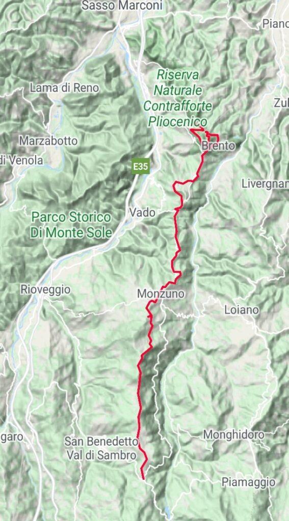 Da Badolo a Madonna dei Fornelli (traccia GPS dell'autore).