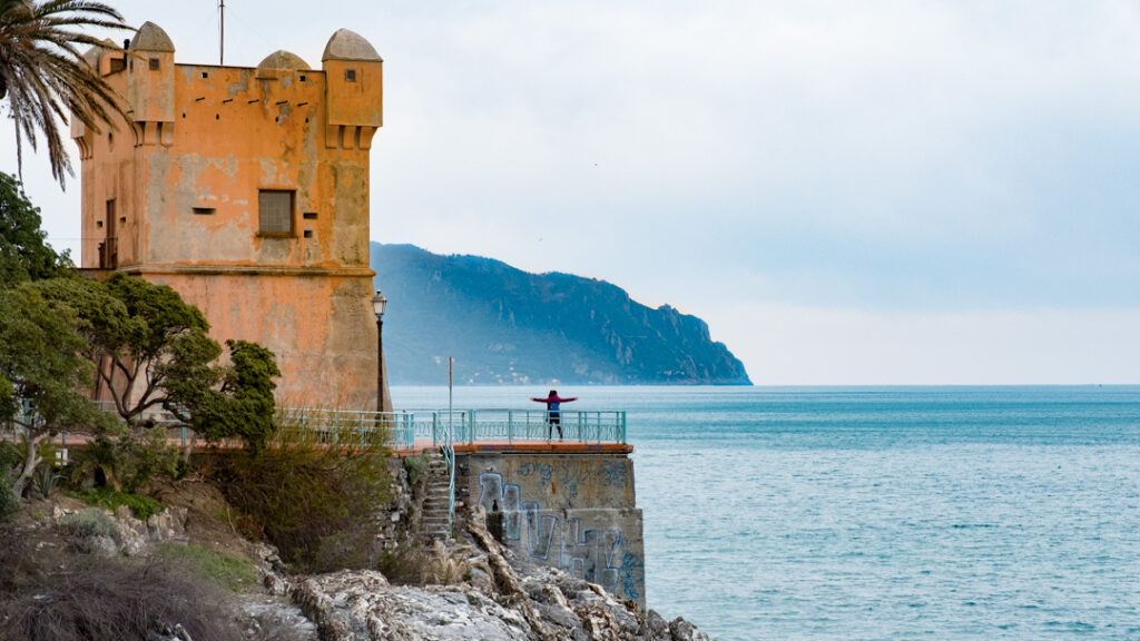 Torre di Gropallo a Nervi. Via Visit Genoa.