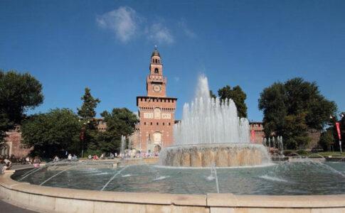 Fontana in Piazza Castello, Milano (ph: milanocastello.it)