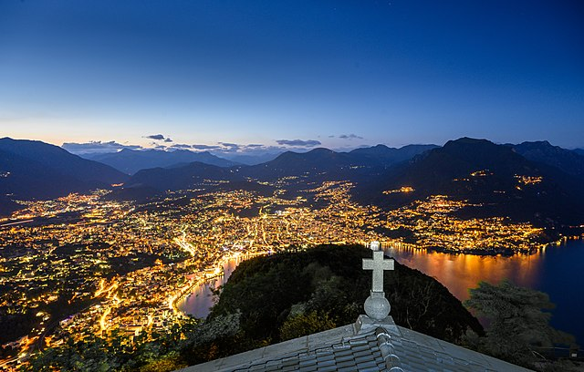 Lugano. Via Wikimedia Commons.