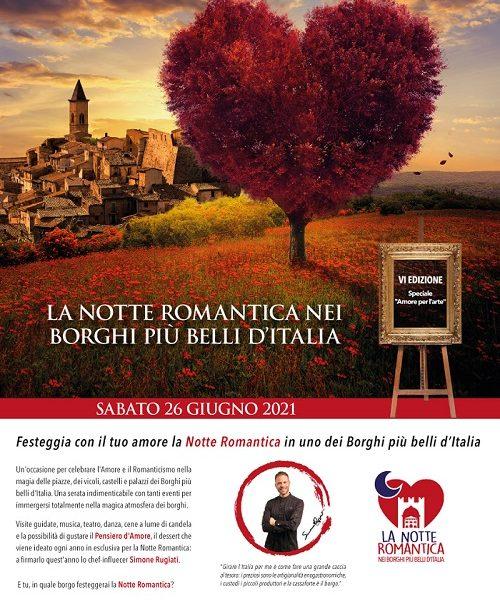 Borghi più belli d'Italia, notte romantica 2021