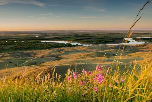 Gli spazi aperti del Montana e il Milk River. Via Great American West