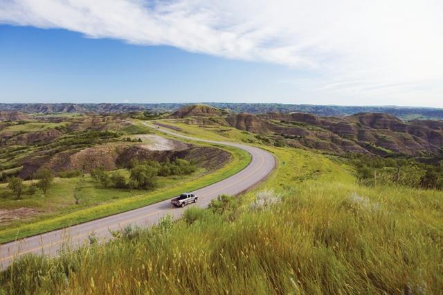Paesaggi in North Dakota. Via The Great American West.
