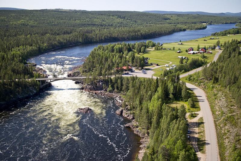 Le cascate di Jockfall © Katarina Nilsson.