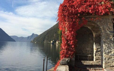 Villa Fogazzaro. LAgo di Lugano. Via in-Lombardia.