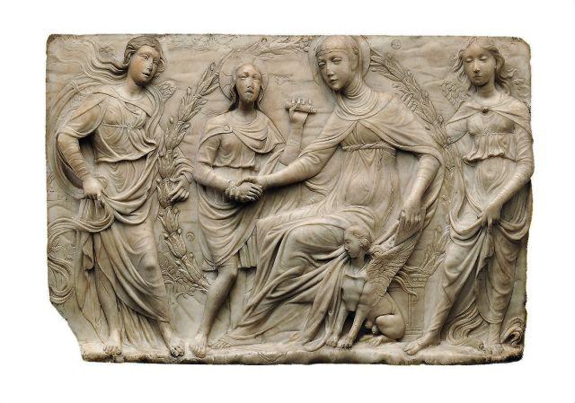 Agostino di Duccio Firenze, 1418 – Perugia (?), post 1481 Santa Brigida di Svezia riceve la regola del suo ordine 1459 Marmo cm 42,5 63,8 7 New York, The Metropolitan Museum of Art, John Stewart Kennedy Fund, 1914, 14.45.