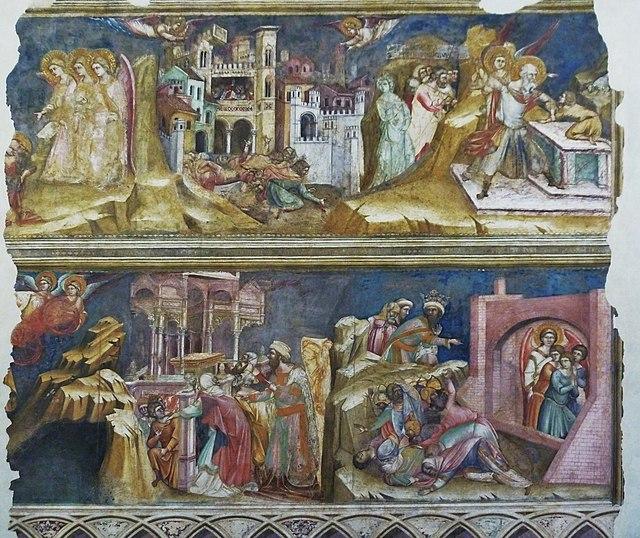Gli affreschi alla Loggia dei Carraresi. Via Wikimedia Commons.