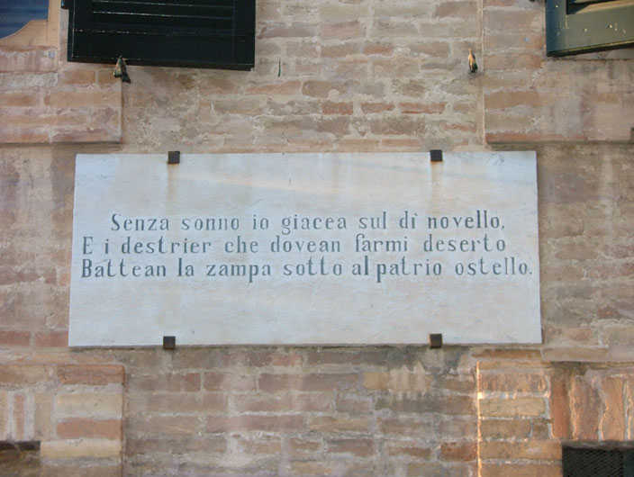 Casa di Giacomo Leopardi, Recanati