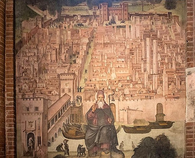 Affreschi custoditi nella Basilica di San Teodoro. Via Wikimedia Commons.