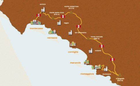 Sentiero del Crinale Fonte: Consorzio Turistico Cinque Terre