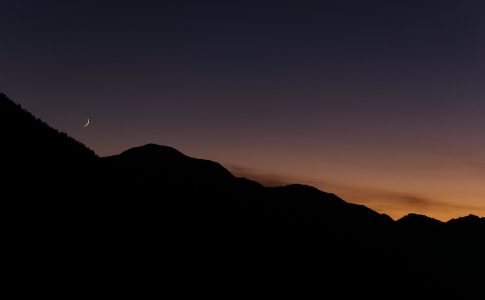 Luna, montagna, natura